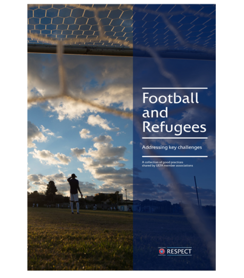 "2- UEFA report ""Football and Refugees. Addressing key challenges""(2018)"