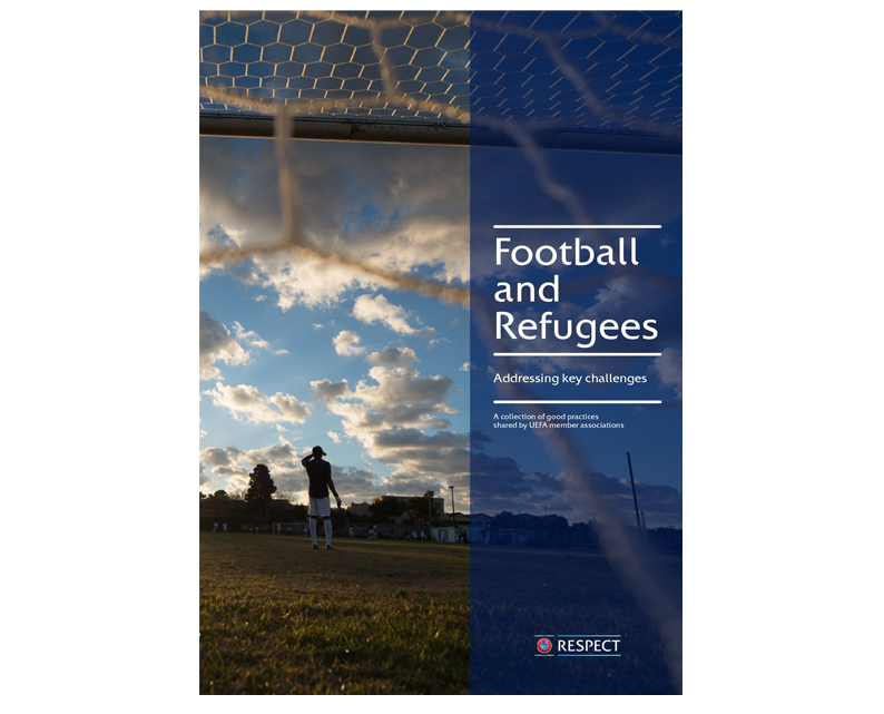 """2- UEFA report """"Football and Refugees. Addressing key challenges""""(2018)"""